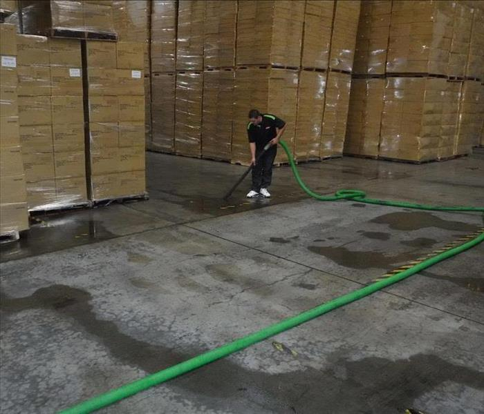 Warehouse Flood in Ontario, CA